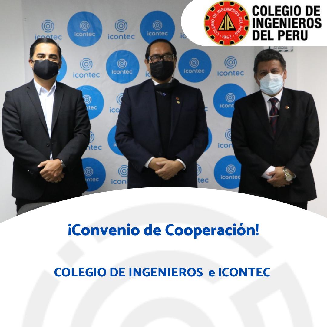 FIRMA DE CONVENIO COLEGIO DE INGENIEROS DEL PERÚ
